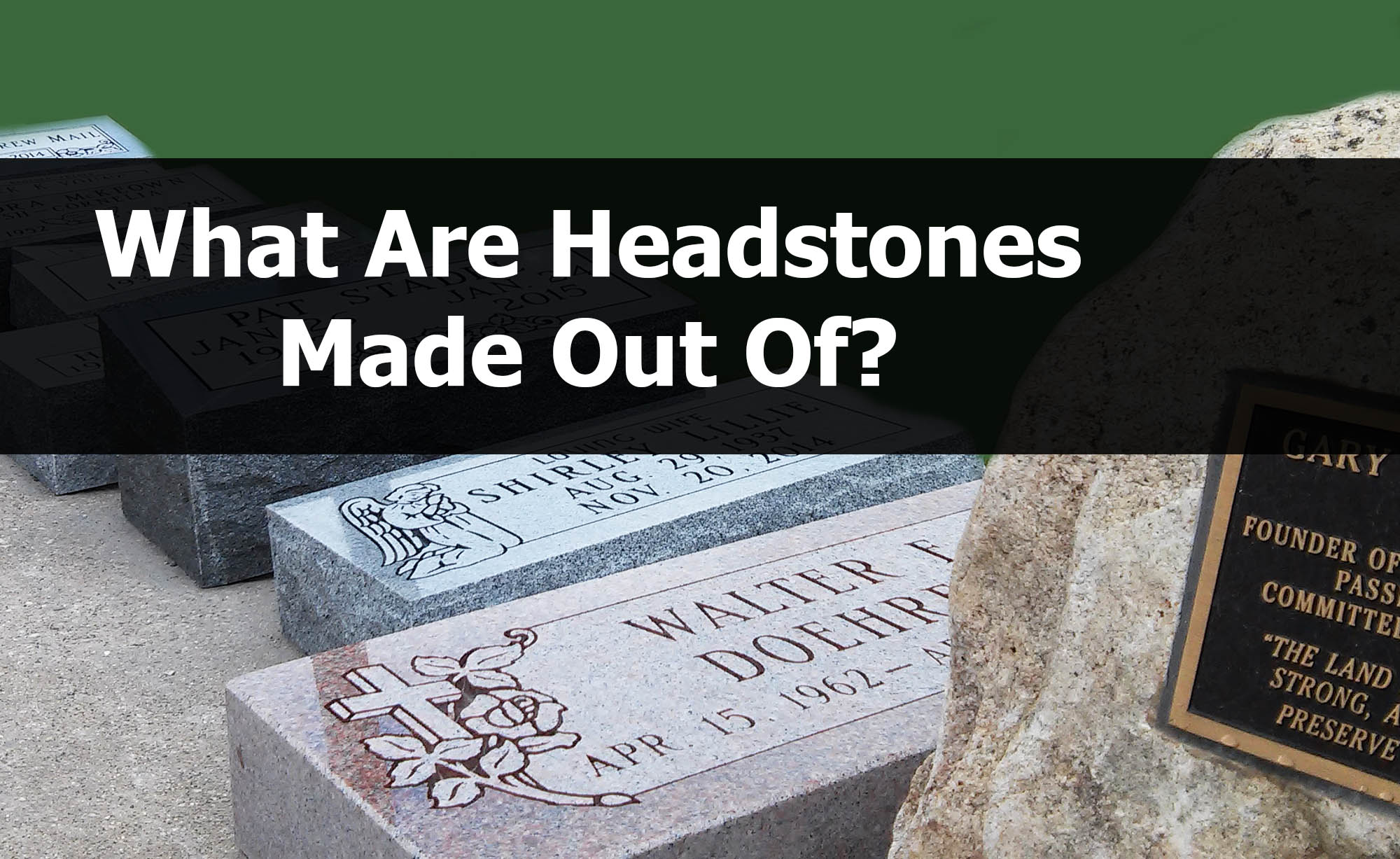 what are headstones made out of, Patten's monument